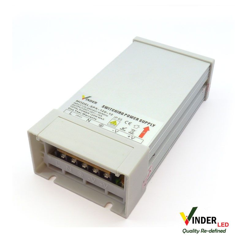 Vinder Rain Proof Power Supply 12V DC 10A - High Quality