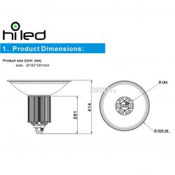 Hiled Lampu Led Highbay 100W