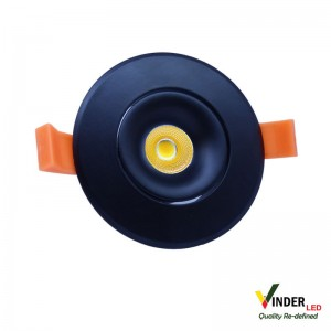 Vinder Ceiling Spot Downlight 7W - COB Black series