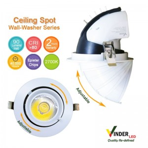Vinder Ceiling Spot Downlight 20W - Wall Washer series