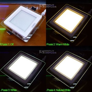 Downlight Panel 12W 3in1 Color Square - HoT Sale