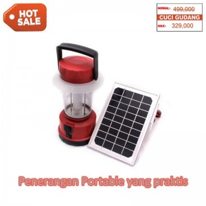 Lampu Led Portable dengan Solar Panel