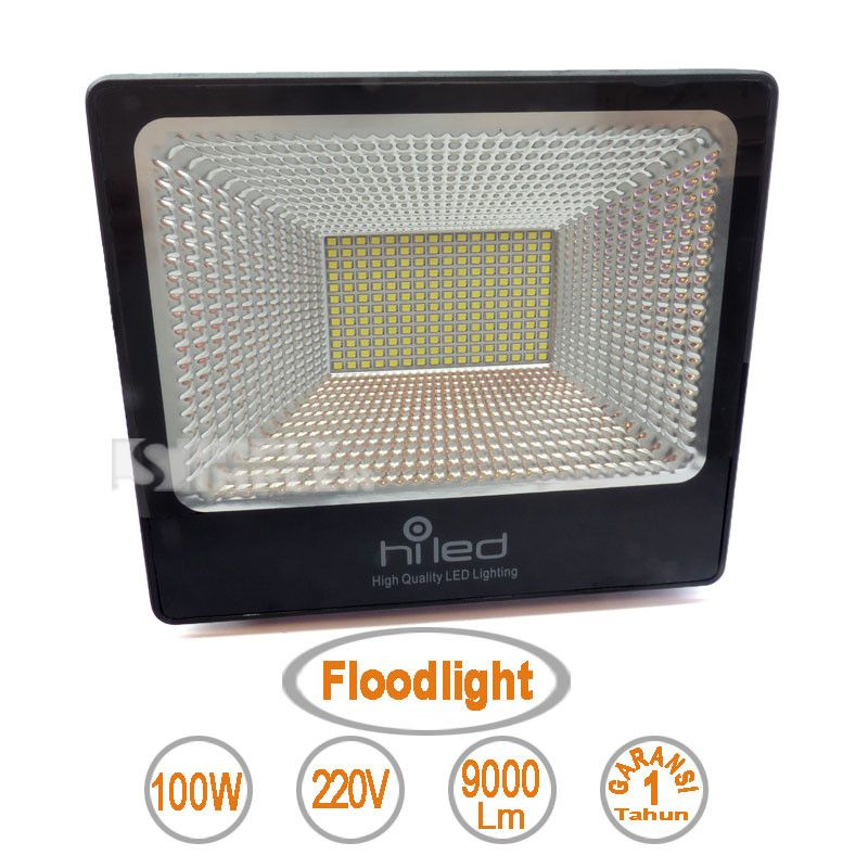 Lampu Led Floodlight 100W merek Hiled - Value Series