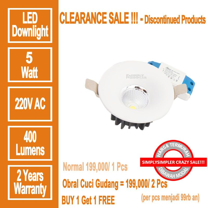 HILED DownLight COB 5W - PROMO BUY 1 GET 2