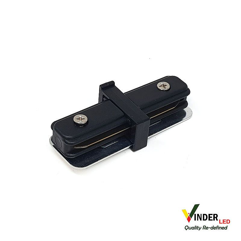 Connector Lurus Track Rail warna Hitam