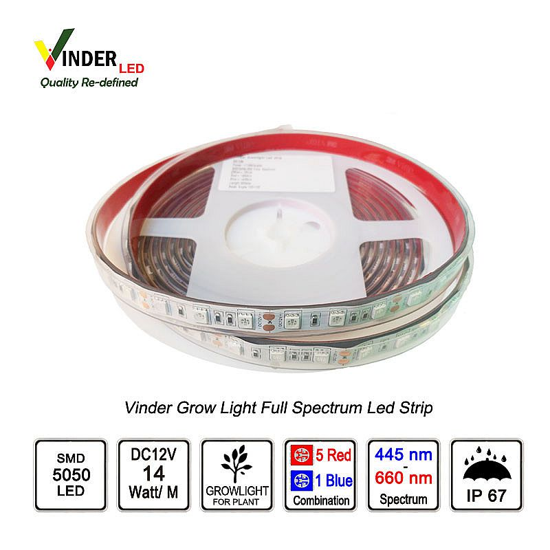 Vinder Plant Grow light Full Spectrum Led Strip SMD5050