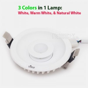 Hiled Panel Downlight COB 3 Step 3in1 7W+7W - Hot Sale