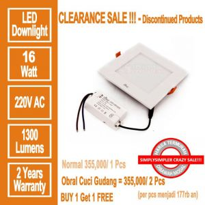 HILED Square Downlight 16W - PROMO BUY 1 GET 2