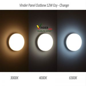 Vinder Panel Outbow Light 12 Watt Ezy Change Series