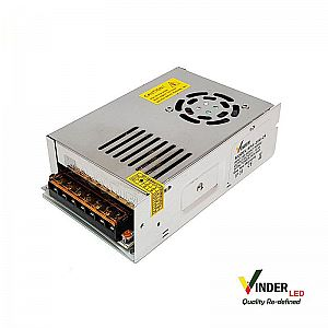 Vinder Switching Power Supply 24V DC 10A 250W with Fan - High Quality