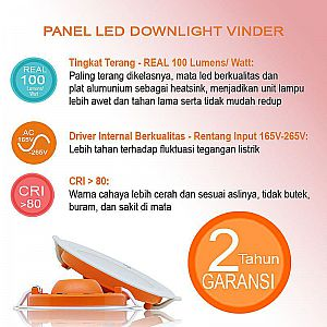 Vinder Slim Downlight Panel 10W Round