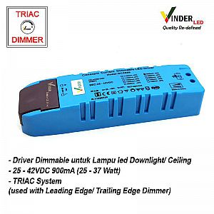 Vinder TRIAC Dimmable Driver Ballast untuk Led Downlight 25W - 37W