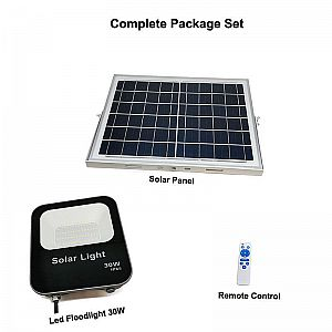 Floodlight Solar Panel System V+ 30W 6500K