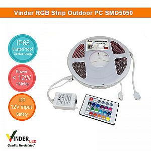 Vinder Led Strip RGB Outdoor SMD5050 Changing Colors (tanpa adaptor)